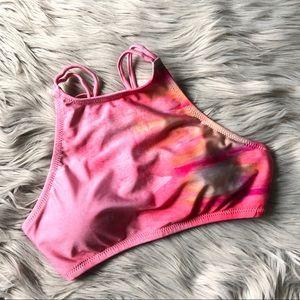 Altar'd State Watercolor Print Halter Bikini Top